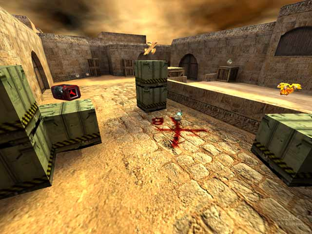 Screenshot for de_dust2 for quake 3 by OXOTHuK