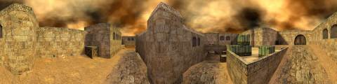 Panorama for de_dust2 for quake 3